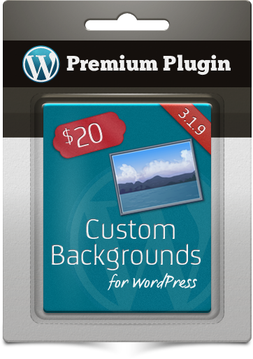 Premium Plugin Custom Backgrounds for WordPress