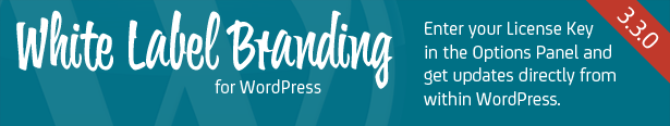 White Label Branding for WordPress - Enter your license key and get updates!