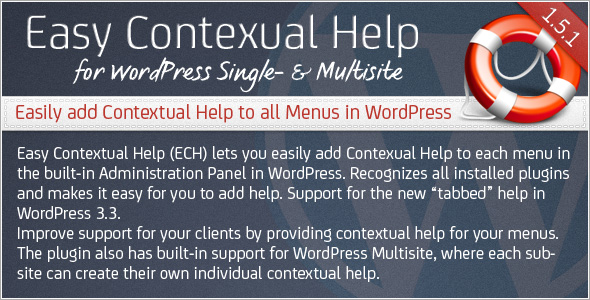 Easy Contextual Help for WordPress