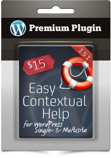 Premium Plugin Easy Contextual Help for WordPress