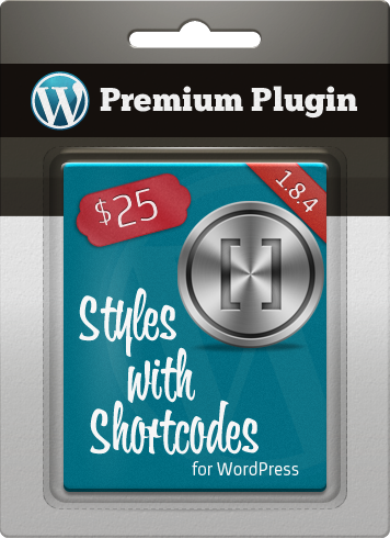Premium Plugin Styles with Shortcodes for WordPress
