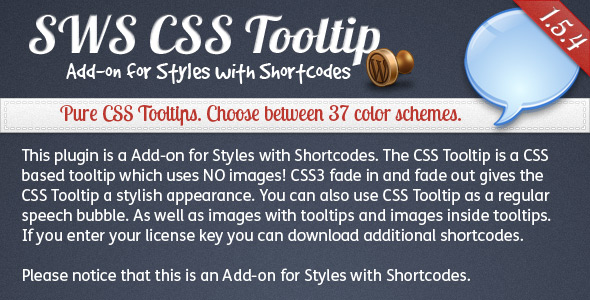 SWS CSS Tooltip Add-on for Styles with Shortcodes