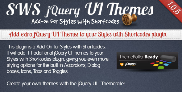 SWS jQuert UI Themes for Styles with Shortcodes