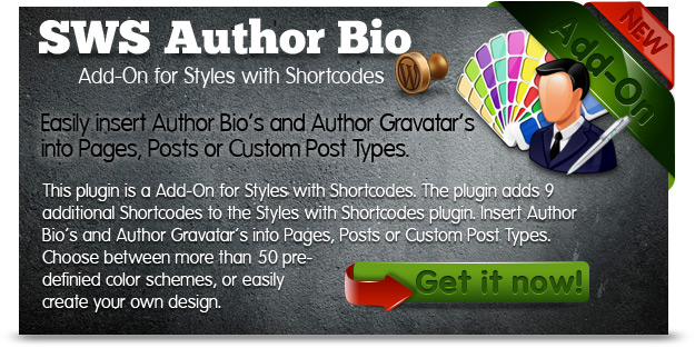 SWS Author-Bio Add-on for Styles with Shortcodes