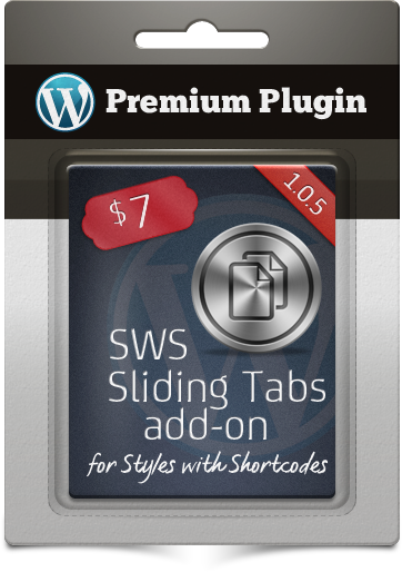 Premium Plugin SWS Sliding Tabs add-on for Styles with Shortcodes