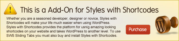 SWS Sliding Tabs er en add-on til Styles med Kortkoder