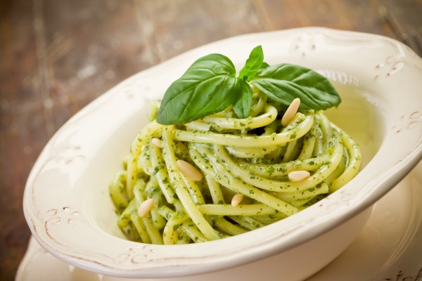 Pasta with pesto (get the image on Photodune.net)