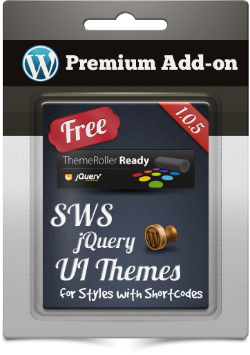 Premium Add-on SWS jQuery UI Themes for Styles with Shortcodes
