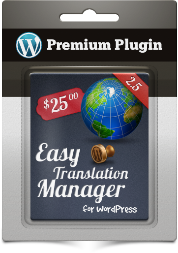 Premium Plugin Easy Translation Manager for WordPress
