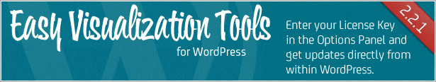 Easy Visualization Tools for WordPress - Enter your License Key and get updates direct within WordPress admin