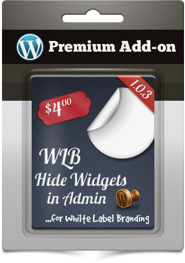 Premium Add - on WLB verbergen Widgets in Admin voor White Label Branding