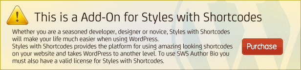 SWS Author Bio Add-on for Styles with Shortcodes