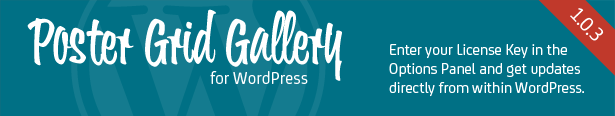 Poster Grid Gallery for WordPress - Enter your license key and update your plugin from inside wp-admin