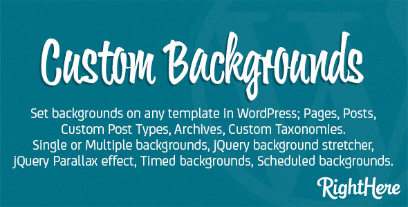Custom Backgrounds for WordPress