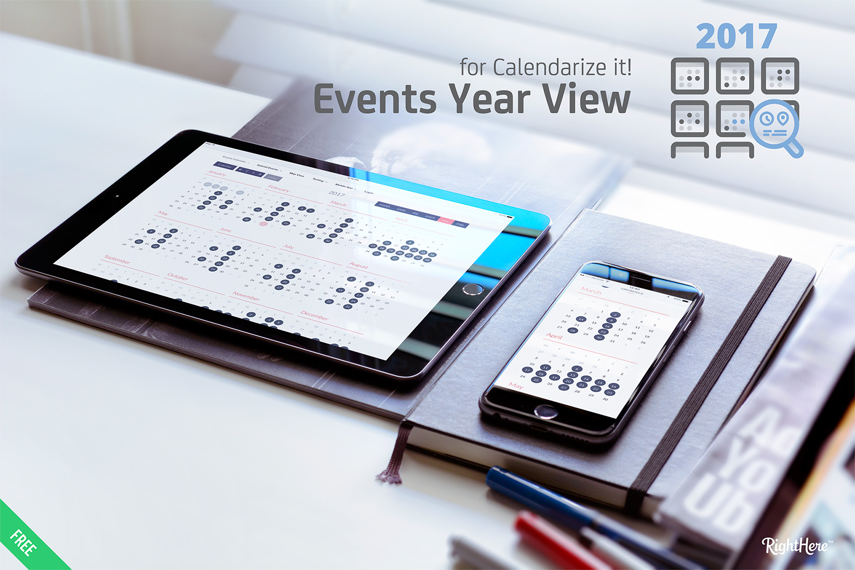 Events Year View for Calendarize it!