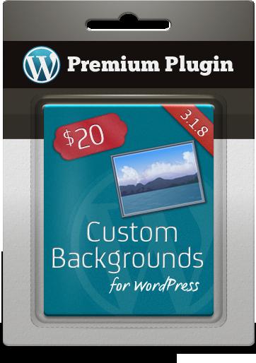 Premium Plugin Custom Backgrounds for WordPress