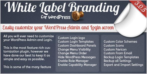 White Label Branding for WordPress