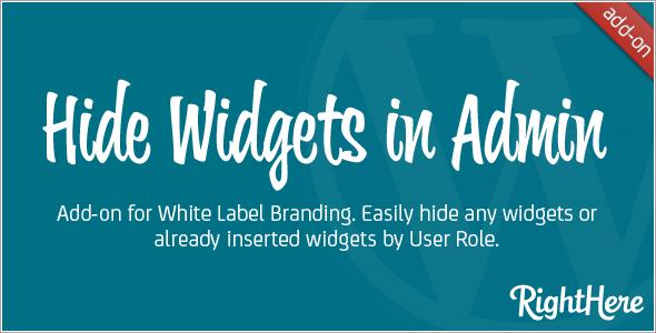 WLB Hide Widgets in Admin add-on for White Label Branding for WordPress