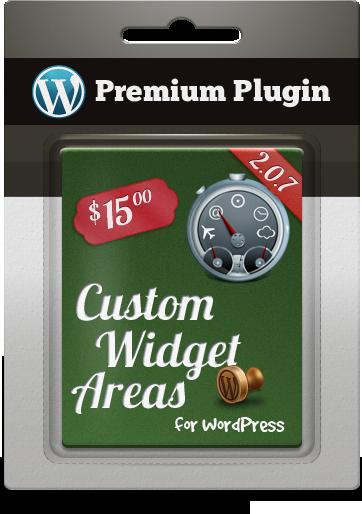 Premium Plugin Custom Widget Areas for WordPress