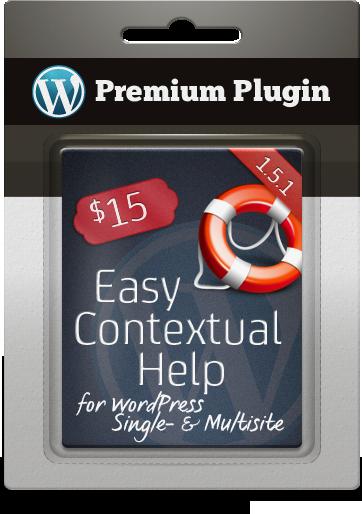 Premium Plugin Easy Contextual Help for WordPress