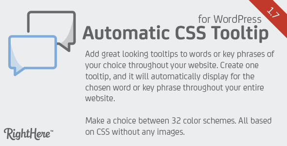 Automatic CSS Tooltip for WordPress