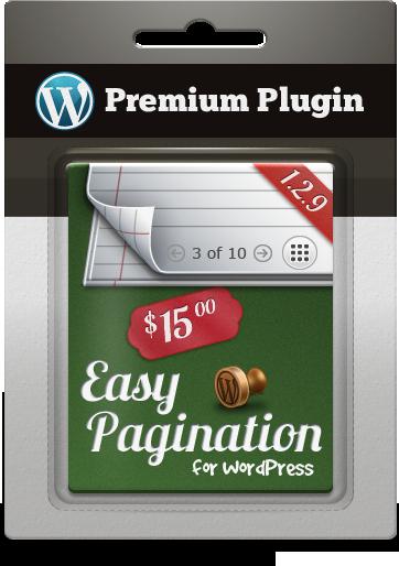Premium Plugin Easy Pagination for WordPress