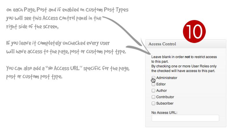 Access Control Metabox