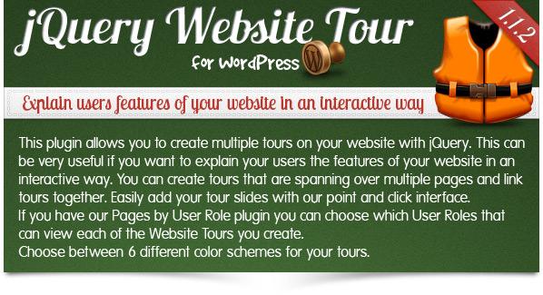 jQuery Website Tour for WordPress