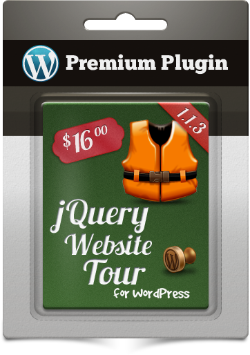 Premium Plugin jQuery Website Tour for WordPress