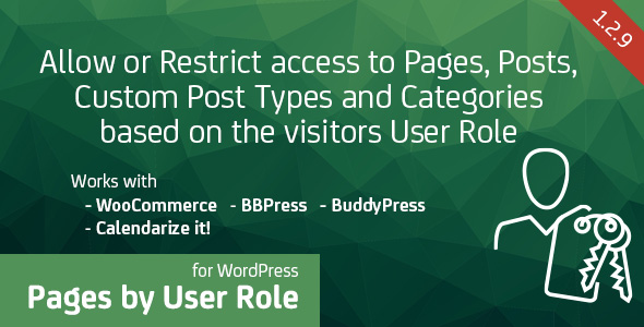 Pages by User Role for WordPress - Allow or Restrict access to Pages, Posts, Custom Post Types and Categories based on the visitors User Role