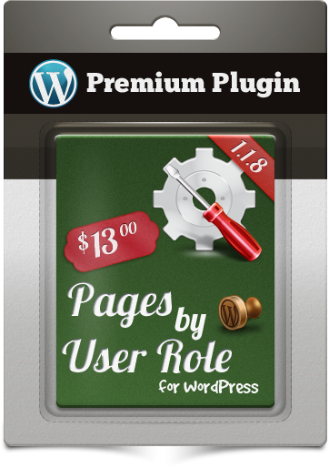 Premium Plugin Pages by User Role for WordPress