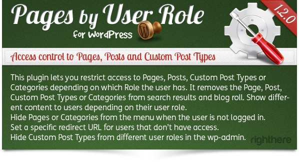 Pages by User Role for WordPress