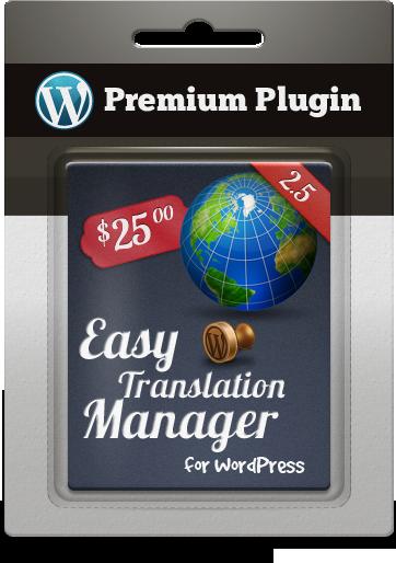 Premium Plugin Easy Translation Manager for WordPress