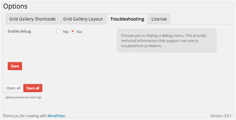Poster Grid Gallery Options Troubleshooting