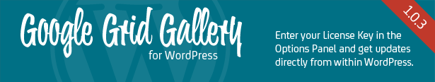 Google Grid Gallery for WordPress