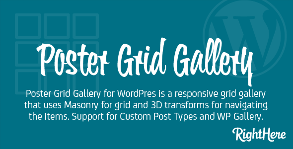 Poster Grid Gallery for WordPress