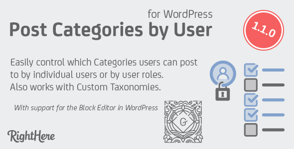 Post Categories by User Role for WordPress