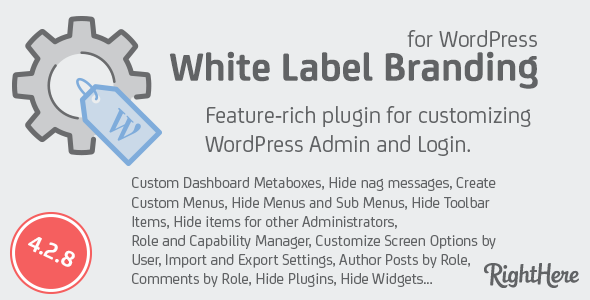 White Label Branding for WordPress 4.2.8
